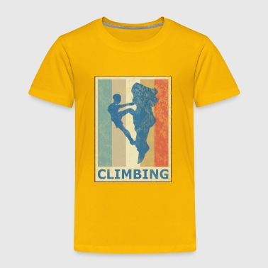 Retro Vintage Style Rock Climbing Climber Mountain - Toddler Premium T-Shirt