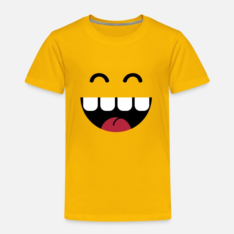 Baby Baby Clothing - cute monster teeth - Toddler Premium T-Shirt sun yellow