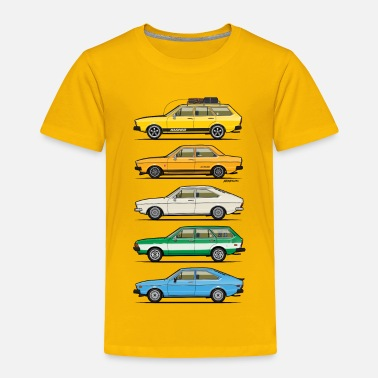 Retro Stack of VAG B1 VDubs and Four Rings - Toddler Premium T-Shirt