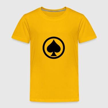 Pik Spade Cards Cardgame Mountaintop Peak Gift - Toddler Premium T-Shirt