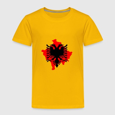 red albanian eagle dobble head kosovo symbol - Toddler Premium T-Shirt