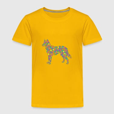 German Shepherd German Shepherd Flower Shirt - Toddler Premium T-Shirt