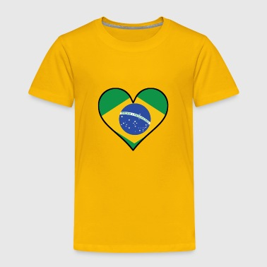 Brazilian Brazilian Flag Heart - Toddler Premium T-Shirt