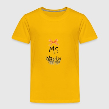 MS Warrior Ribbon/ Bow - Toddler Premium T-Shirt