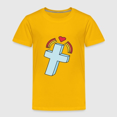 Kreuz kreuz crucifix cross church kirche2 - Toddler Premium T-Shirt