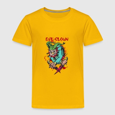 Bloody Clown EVIL_CLOWN_3_WITH_knifes_bloody - Toddler Premium T-Shirt