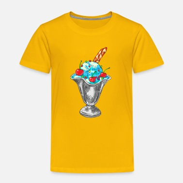 Summer ice cream in a saucer - Toddler Premium T-Shirt