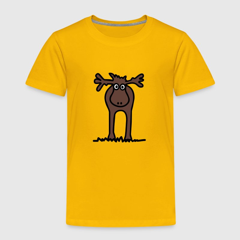 Funny brown elk / reindeer - Toddler Premium T-Shirt