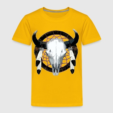 Bison Skull Bison skull on dream catcher  - Toddler Premium T-Shirt