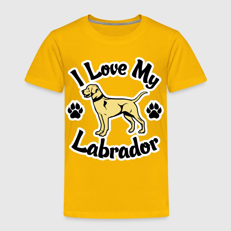 I Love My Yellow Labrador - Toddler Premium T-Shirt