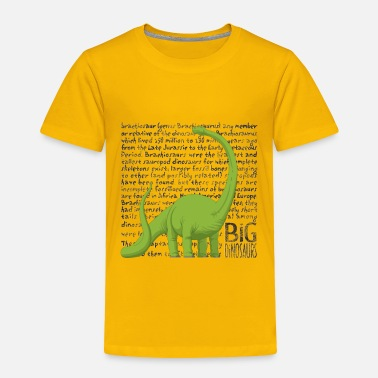Meme Big Dinosaurs Lover Dino Funny Brachiosaurus Lover Fan - Toddler Premium T-Shirt