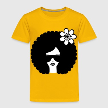 Curly haired sommer girl with flower - Toddler Premium T-Shirt