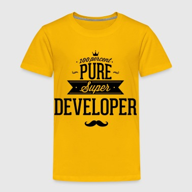 Web Developer 100 percent pure super developer - Toddler Premium T-Shirt