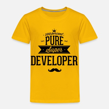 Web 100 percent pure super developer - Toddler Premium T-Shirt