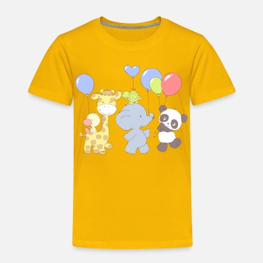 Little Panda Birthday party - Toddler Premium T-Shirt