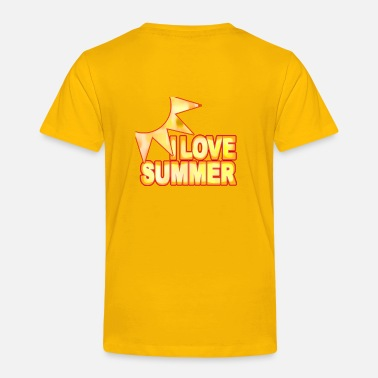 Sunburn wordtease I LOVE SUMMER SUN sunburn - Toddler Premium T-Shirt