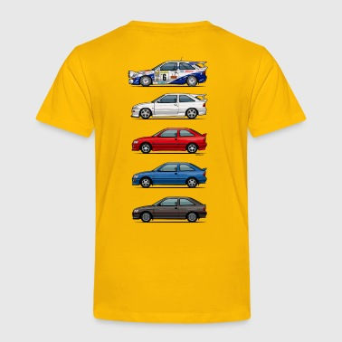 Rally Baby Stack of Ford Escort MkVs Coupes - Toddler Premium T-Shirt