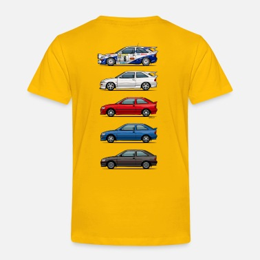 Ford Stack of Ford Escort MkVs Coupes - Toddler Premium T-Shirt