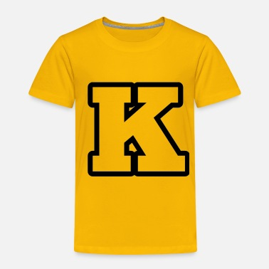 K Alphabet K from alphabet 1 - Toddler Premium T-Shirt