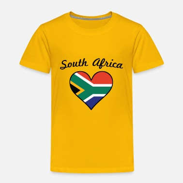 South South Africa Flag Heart - Toddler Premium T-Shirt