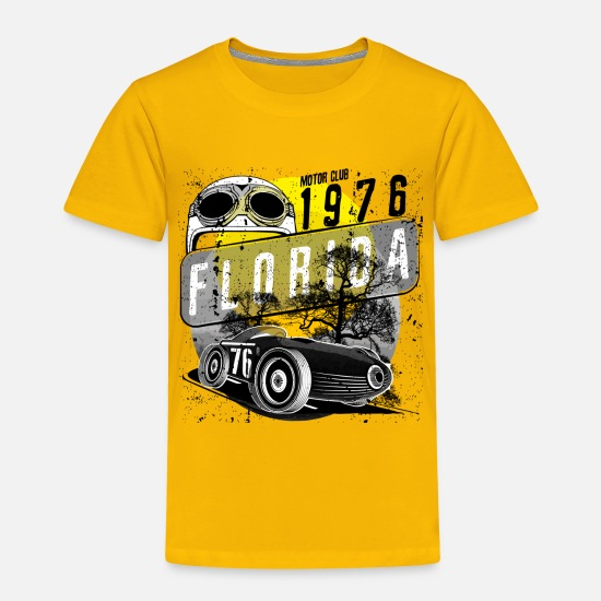 Motor Race Baby Clothing - florida motor club - Toddler Premium T-Shirt sun yellow