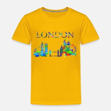 London London England Skyline Watercolor, London Gift, - Toddler Premium T-Shirt
