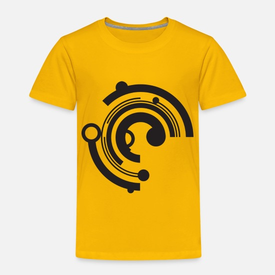 Tech Baby Clothing - Tech Circle - Toddler Premium T-Shirt sun yellow