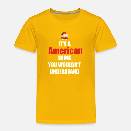 Love Baby Clothing - geschenk heimat wurzeln home love USA Amerika pn - Toddler Premium T-Shirt sun yellow