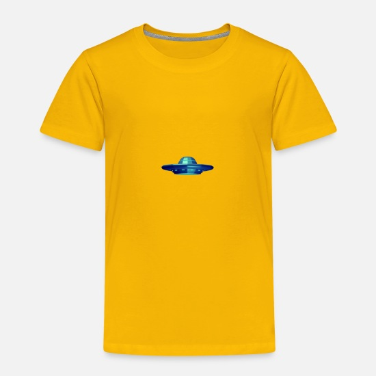 Alien Baby Clothing - UFO - Toddler Premium T-Shirt sun yellow