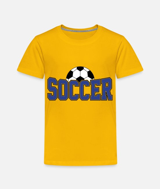 Soccer Baby Clothing - Soccer Ball , Soccer Player, Soccer Ball - Toddler Premium T-Shirt sun yellow
