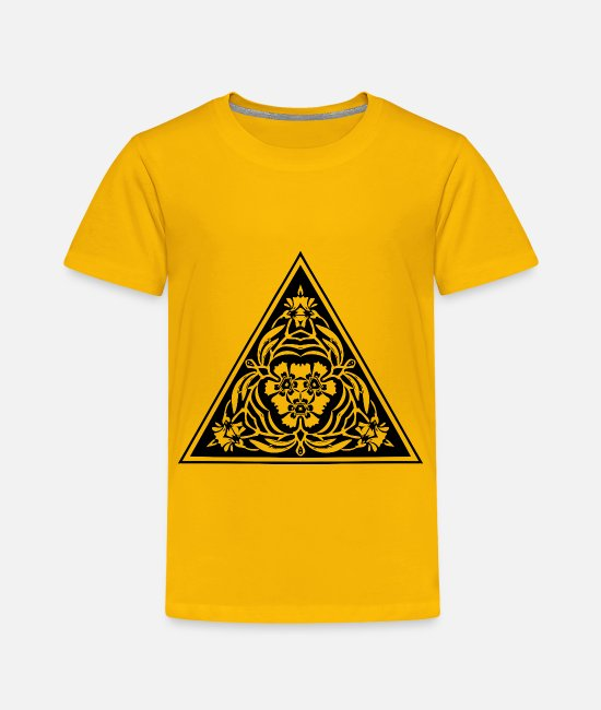 Triple T-Shirts - Triangular ornament 18 - Toddler Premium T-Shirt sun yellow