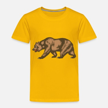 California Flag of California Bear - Toddler Premium T-Shirt