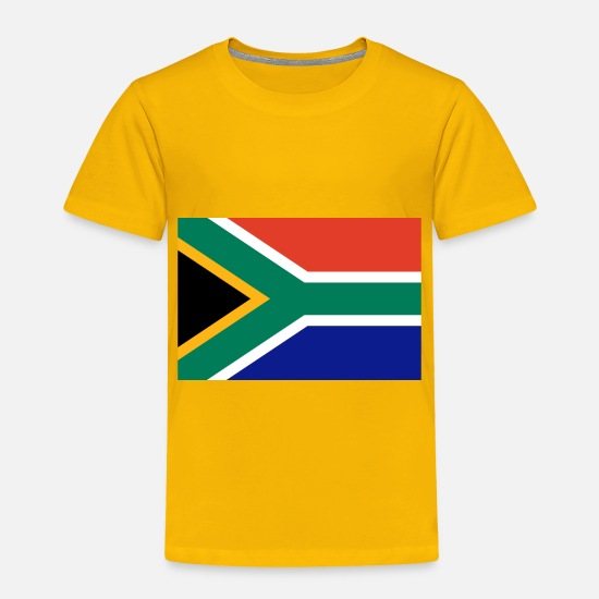 South America Baby Clothing - I Love South Africa Flag Birthday Refugees Welcome - Toddler Premium T-Shirt sun yellow