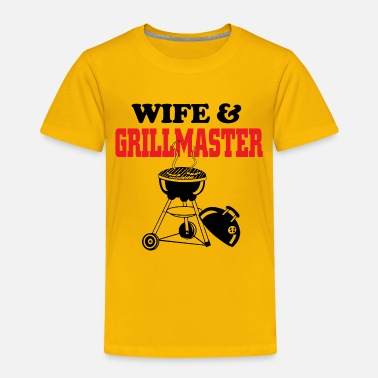 Grillmaster wife and grillmaster - Toddler Premium T-Shirt
