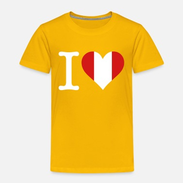 South Beach I Love Peru - Toddler Premium T-Shirt