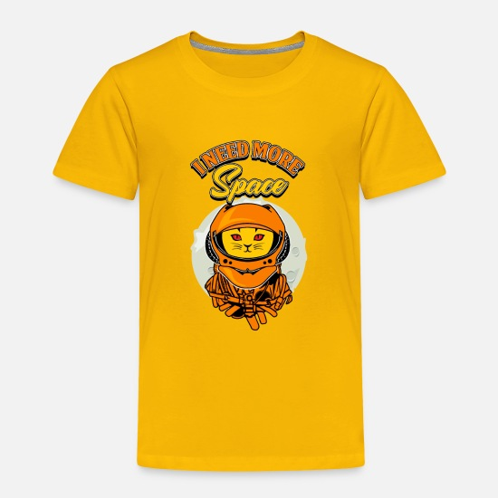 Space Baby Clothing - Cat and Space - Toddler Premium T-Shirt sun yellow