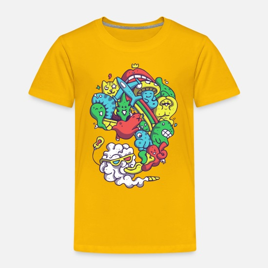 Game Baby Clothing - Wild Smoke - Toddler Premium T-Shirt sun yellow