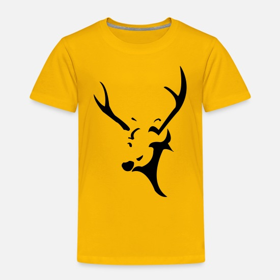 Deer Baby Clothing - deer head - Toddler Premium T-Shirt sun yellow
