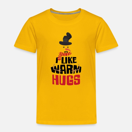 Warm Baby Clothing - Warm Hugs funny tshirt - Toddler Premium T-Shirt sun yellow