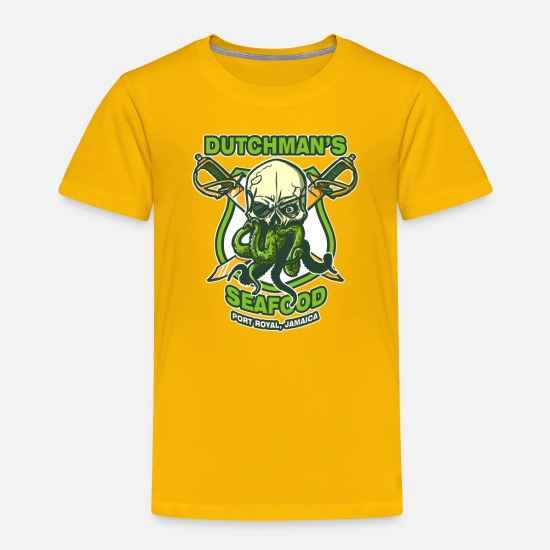 Seafood Baby Clothing - Dutchman s Seafood - Toddler Premium T-Shirt sun yellow