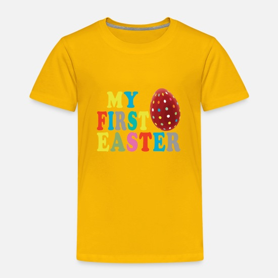 Easter Baby Clothing - Easter egg bunny - my first Easter - Toddler Premium T-Shirt sun yellow