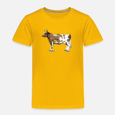 Dairy Cow Red Ayrshire Dairy Cow - Toddler Premium T-Shirt
