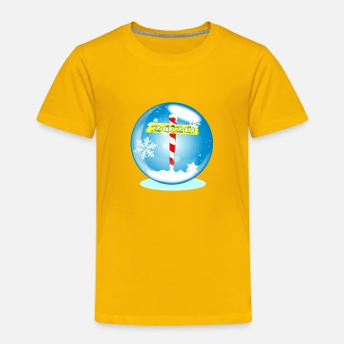 Winterade North Pole Winter Globe Christmas 2020 - Toddler Premium T-Shirt