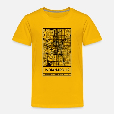 Indianapolis Indianapolis – City Map Plan (Retro) - Toddler Premium T-Shirt
