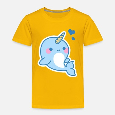 Narwhal Cute Narwhal Tee Shirt - Toddler Premium T-Shirt