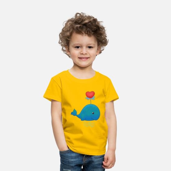 Wale Baby Clothing - whale - Toddler Premium T-Shirt sun yellow