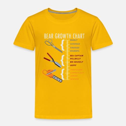 Bear Growth Chart Gift Idea Toddler Premium T Shirt Spreadshirt