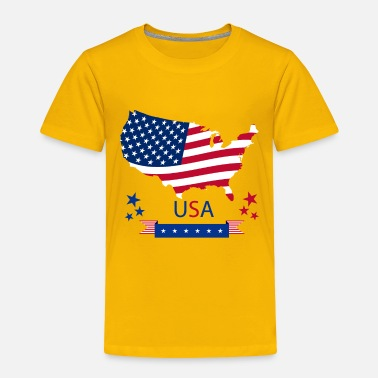 Catastrophe USA flag America Creative Design Map Flags Star - Toddler Premium T-Shirt