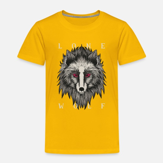 Wolf Baby Clothing - Lone Wolf tshirt and lonely wolf products - Toddler Premium T-Shirt sun yellow
