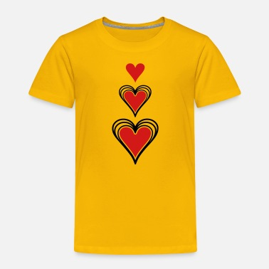 Concentration Concentric Hearts - Toddler Premium T-Shirt